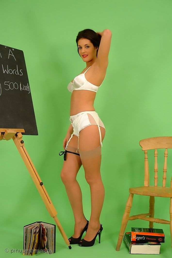 Pinup english teacher in stockings - part 981