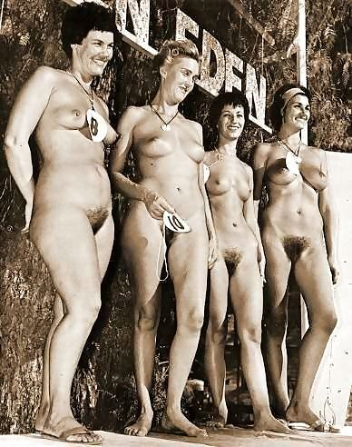 Vintage beach nudist flashing in public - part 661