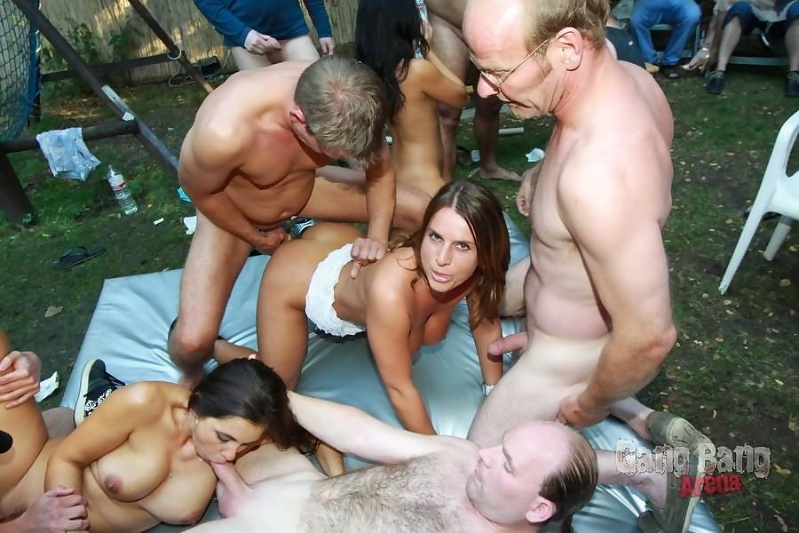 Asian slut lady mai and her friends enjoying outdoor gangbang - part 1211