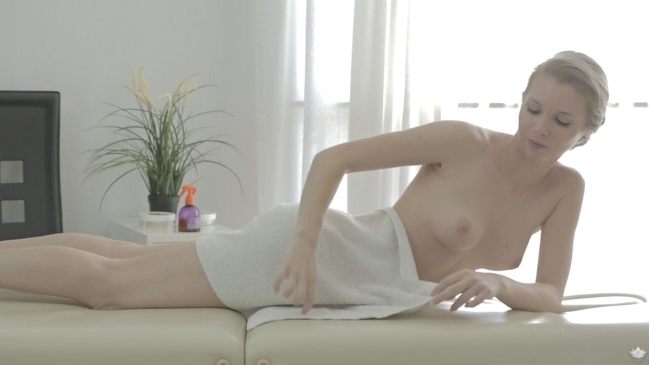 Beautiful Russian girl gets fucked after her masseur oils up her body