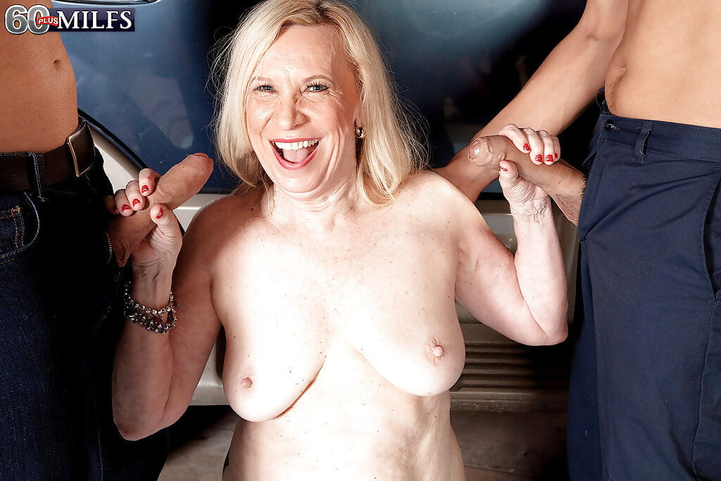 Big titted granny Miranda Torri is ready for hardcore groupsex