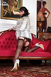 Raven lee is wearing some fab full fashion nylons and a super bl - part 394