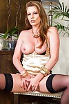 Busty mature babe holly kiss naked in black stockings - part 389