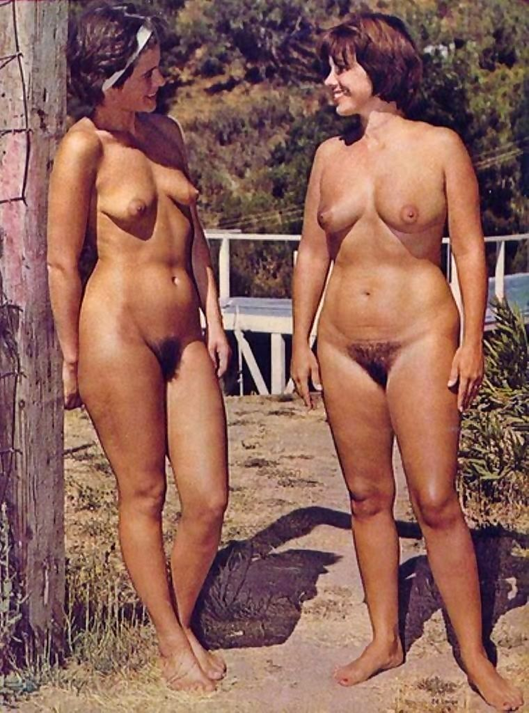 Vintage beach nudist flashing pussies in public - part 822