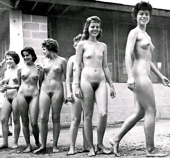 Vintage beach nudist flashing pussies in public - part 804