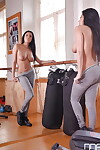 Brunette beauty Anissa Kate delves fingers into twat after ditching yoga pants